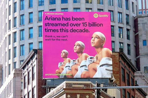 Spotify Ariana Grande Billboard