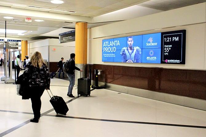 Atlanta Airport Suntrust Ad