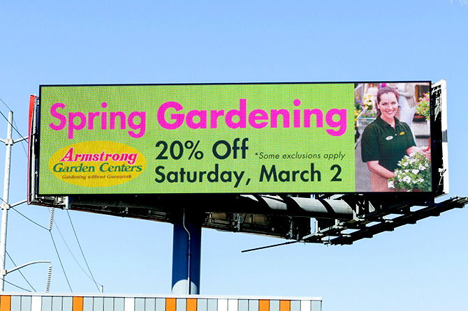 Armstrong Garden Centers Digital Billboard