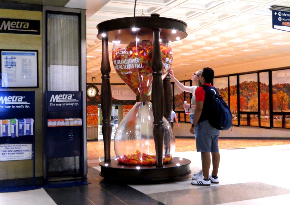 Chicago Metra Station Experiential Campaign for Wisconsin Tourism #TravelWI