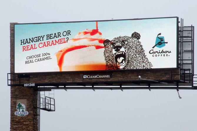 Caribou Coffee Digital Billboard