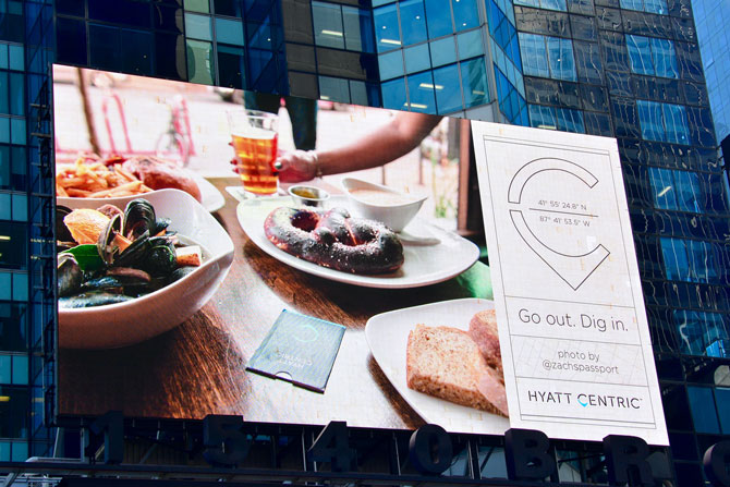 Hyatt Hotels Times Square Digital Billboard