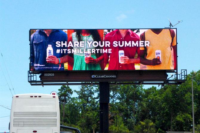 Miller Lite Share Your Summer Digital Billboard
