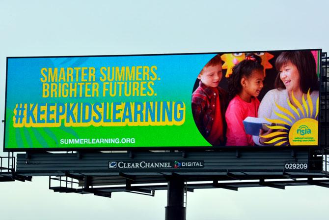 National Summer Learning Association Digital Billboard