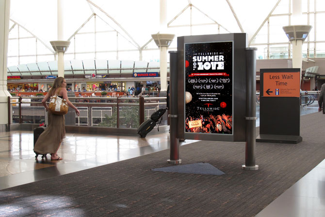 Telluride Festival Denver Airport Ad