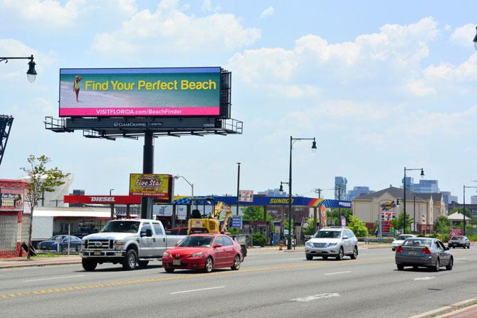 Visit Florida Beach Finder Digital Billboard