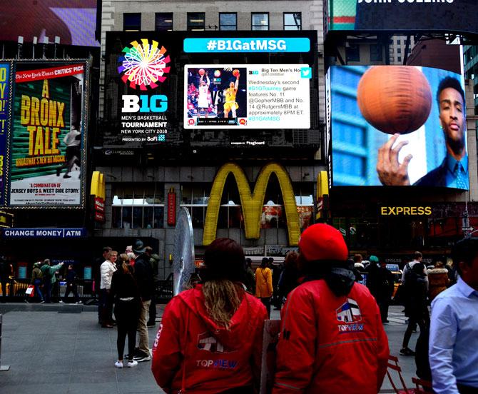 Big Ten Basketball Times Square