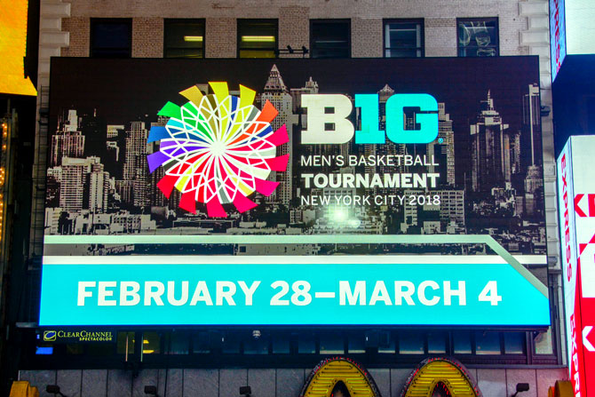 Big Ten Men's Basketball Digital Times Square