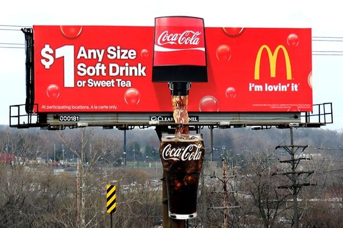 McDonalds Coca-Cola Soda Fountain Billboard