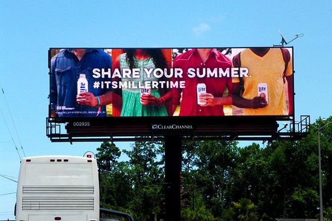 2015 Share Your Summer Miller Lite Digital Billboard