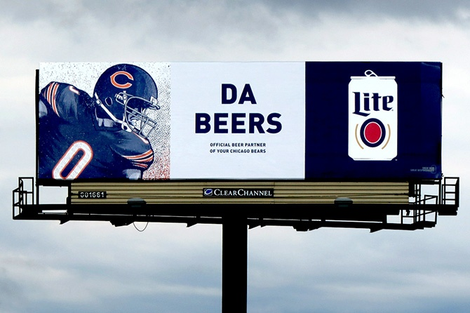 2016 Miller Lite Chicago Bears Billboard