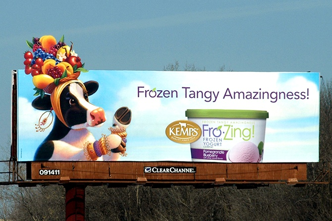 Kemps Frozen Yogurt Billboard