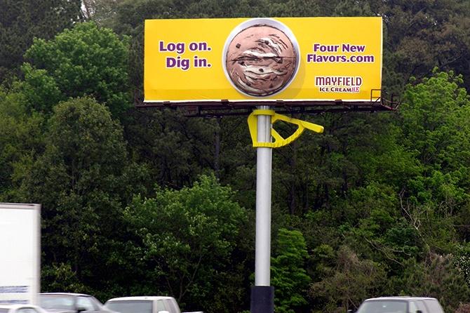 Mayfield Ice Cream Scooper Billboard