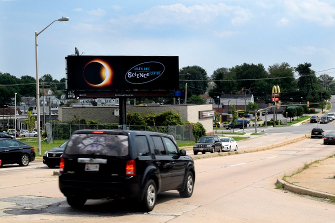 Maryland Science Center Eclipse Digital Billboard