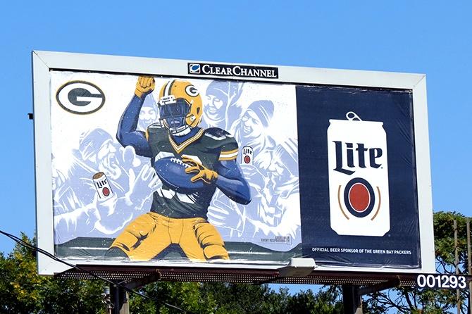 MillerCoors Green Bay Packers Billboard