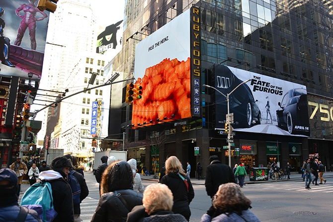 Pass the Heinz New York Billboard