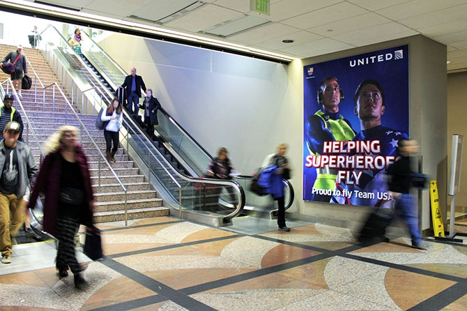 Denver Airport United Airlines Ad