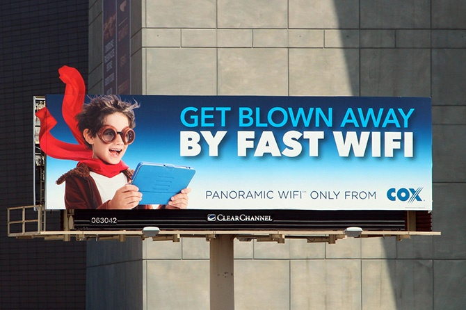 Cox Wifi Billboard