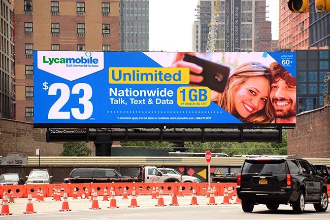 Lycamobile New York Digital Billboard