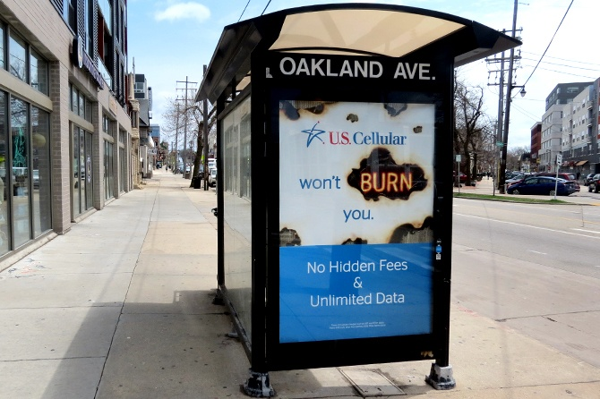 US Cellular Transit Shelter