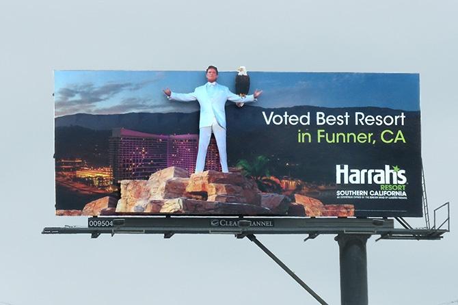 Harrah's David Hasselhoff Billboard
