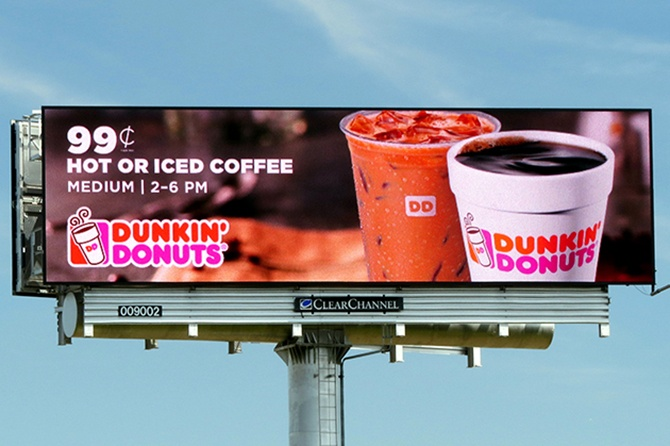 Dunkin' Donuts Digital Billboard