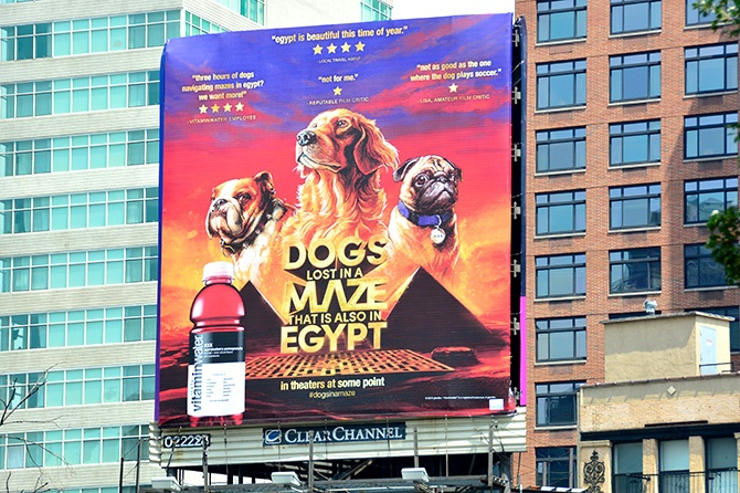 Coca-Cola Dogs Lost in a Maze Billboard