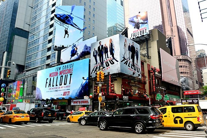 Mission Impossible Fallout Billboard Domination in Times Square