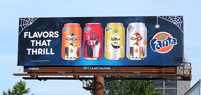 Fanta Halloween Billboard