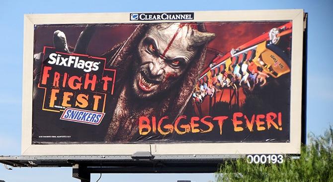 Six Flags Fright Fest Billboard