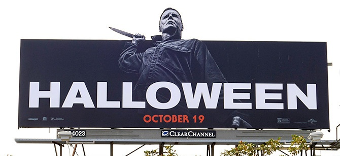 Universal Picutres Halloween Knife Billboard