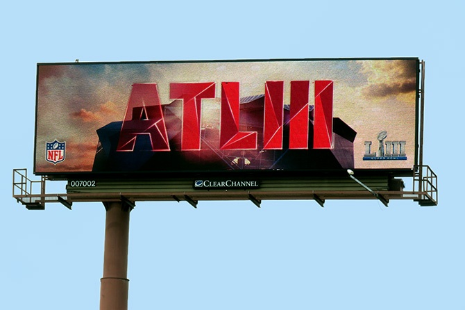 Atlanta Super Bowl LIII Host Committee Digital Billboard Close