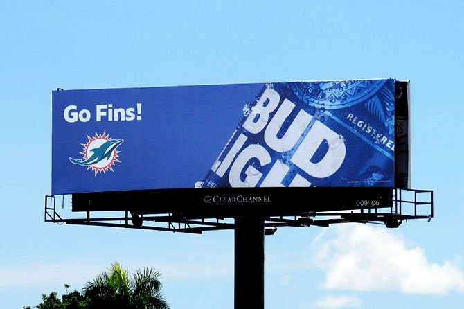 Bud Light Miami Dolphins Go Fins