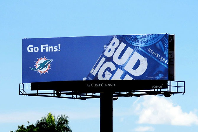 Bud Light Miami Dolphins Go Fins