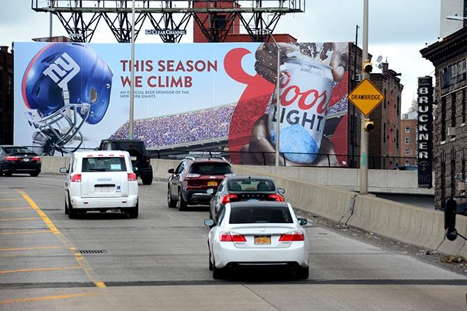 Coors Light New York Giants Billboard