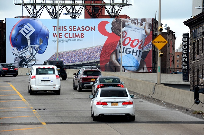Coors Light New York Giants Billboard