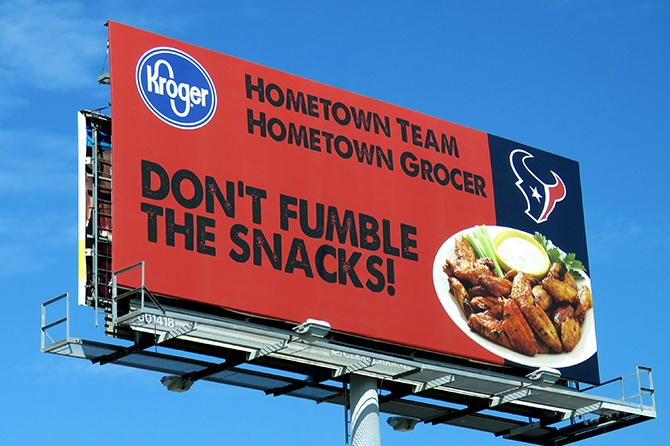 Kroger Houston Texans Billboard