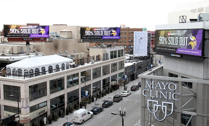 Minnesota Vikings Digital Billboard 2016