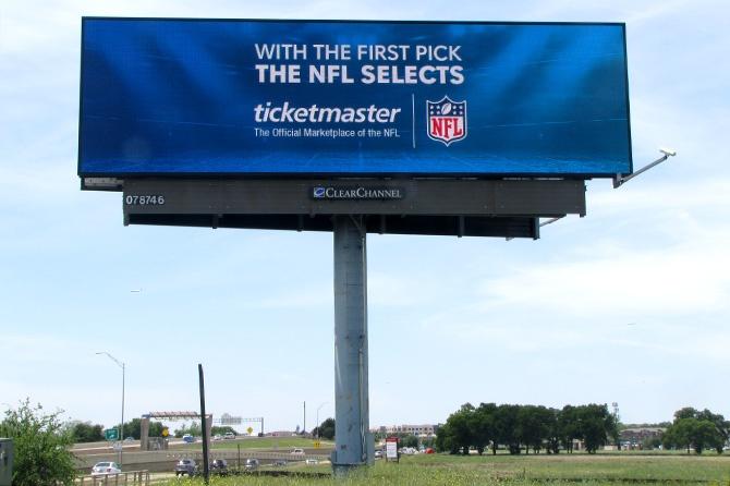 Ticketmaster NFL Draft Digital Billboard