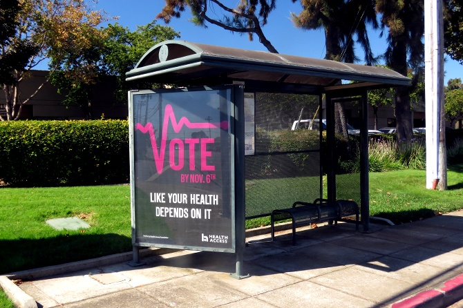 California State Outdoor Adv Vote Transit Ad