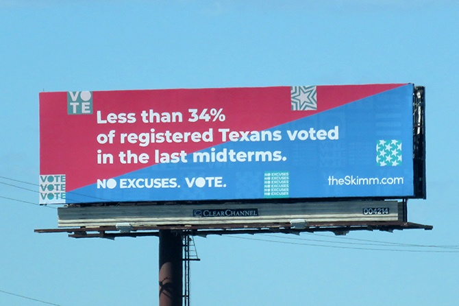 TheSkimm Vote Midterms Billboard