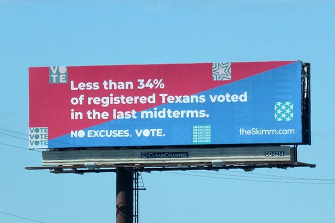 TheSkimm Vote Midterms Billboard