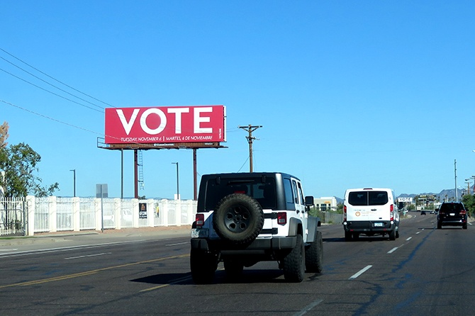 Vote.org Phoenix Billboard