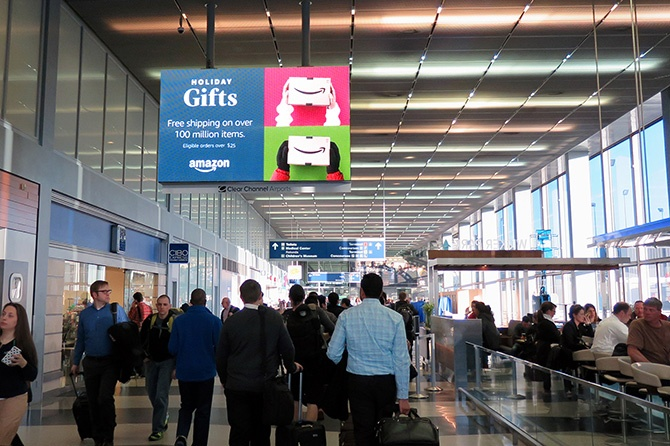 Amazon GIfts OHare Airport Ad-1