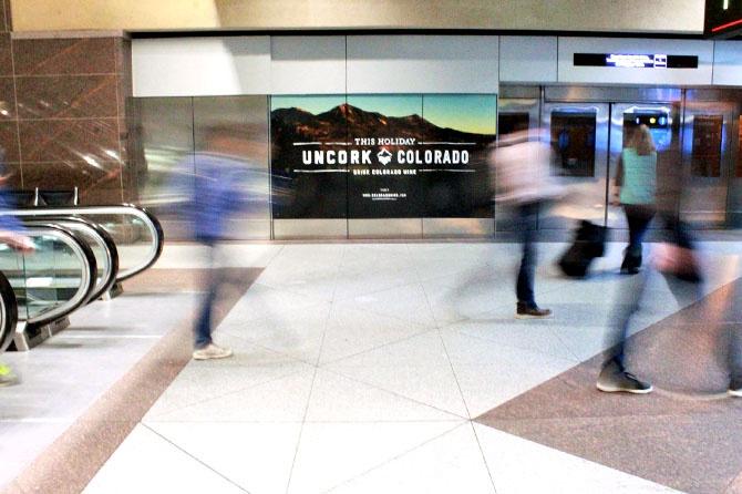 Colorado Wine Denver Airport Banner
