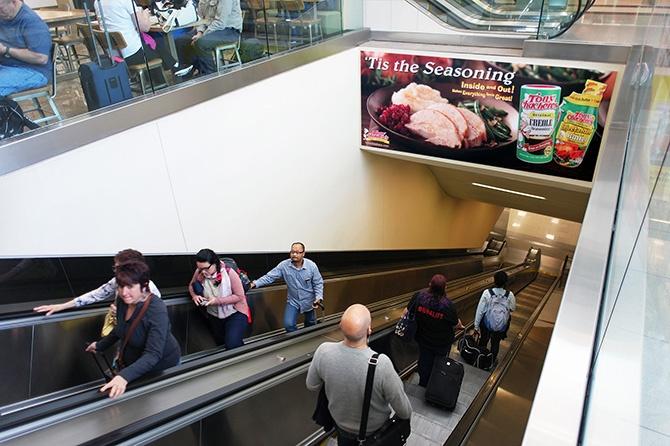 Tony Chachere Holiday Ad in Atlanta Airport-1
