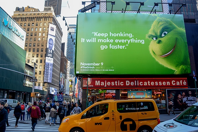 The Grinch Domination in Times Square