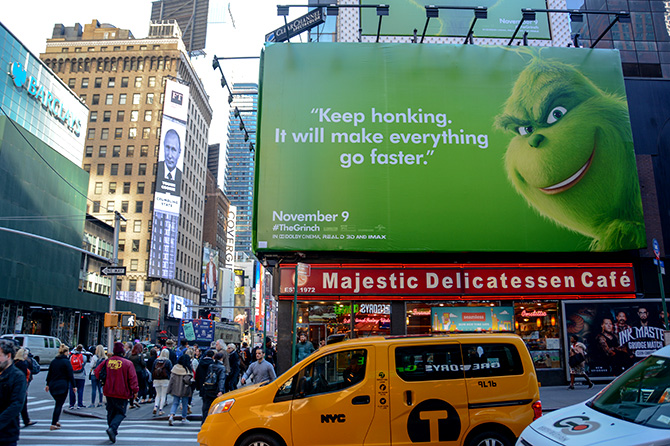 Grinch Times Square Billboard
