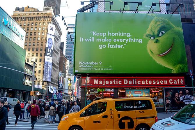 Grinch Times Square Billboard