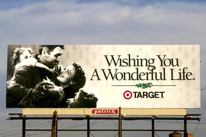 Target Its a Wonderful Life Billboard
